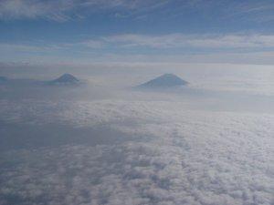 gunung Sumbing Sindoro diliat dari puncak Slamet