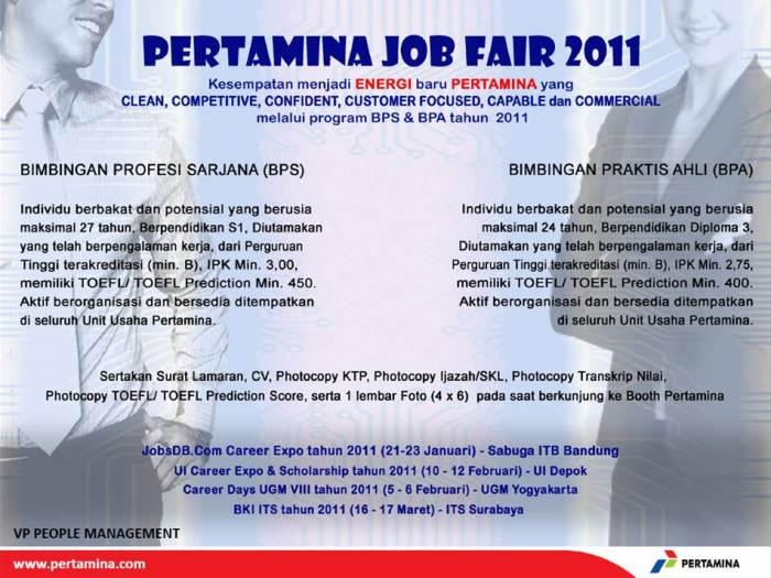 #Pertamina Job Fair2011