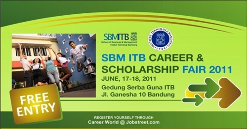 sbm itb career and scholarship fair