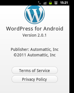 #WordPress for Android2.0.1