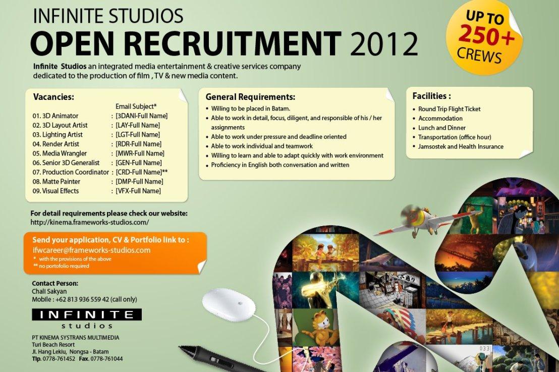 Infinite Studios Open Recruitment2012